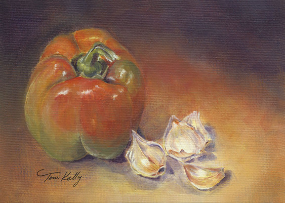 Pepper and Garlic by Toni Kelly