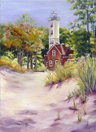 Autumn Lighthouse by Toni Kelly
